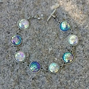 5cec025ab4 Jewelry - Mermaid Scale Toggle Bracelet or Anklet